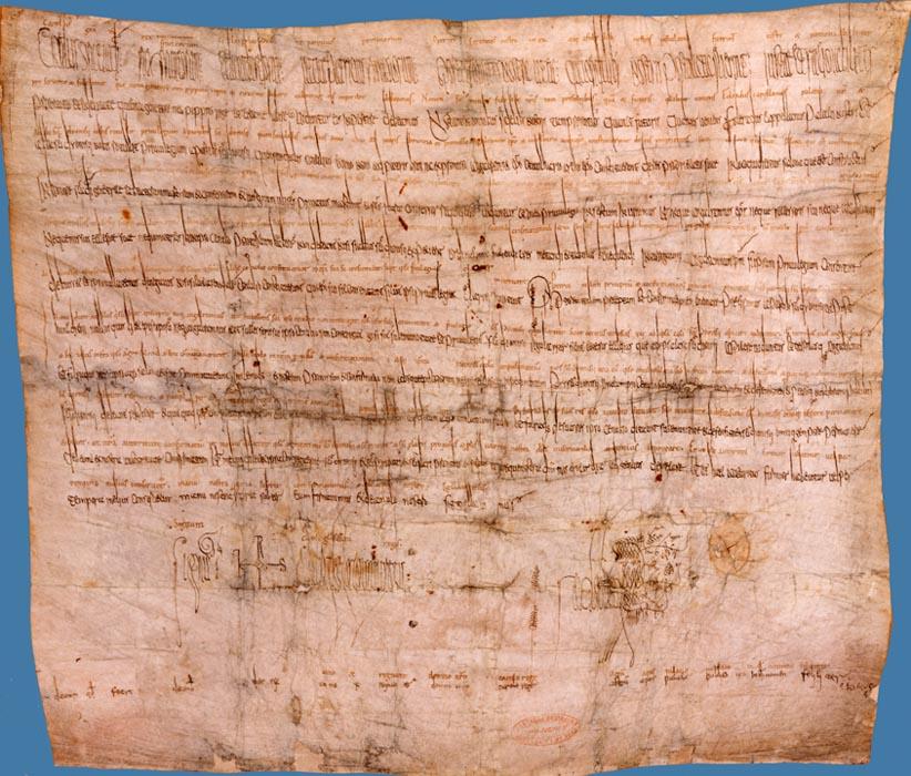 Diplôme de Charlemagne en faveur de l'abbaye de Saint-Denis au sujet de Salonnes (6 décembre 777)