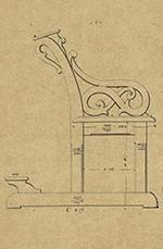 banc de la chapelle de l'école normale, 1872